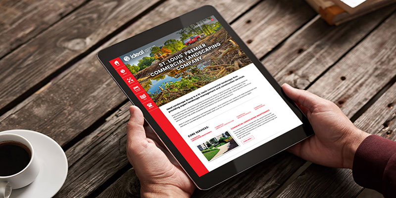 Visual and Landscaping web design