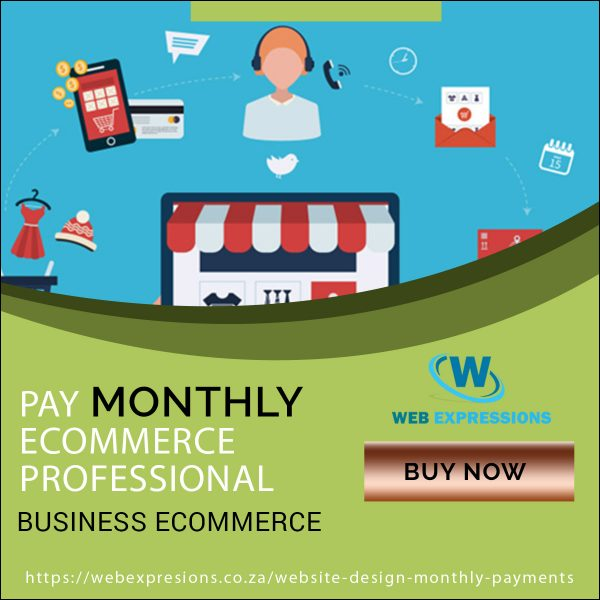 ecommerce pay monthly professional package