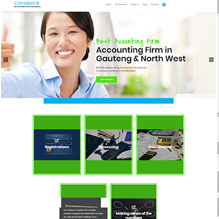 conquer accounting service page