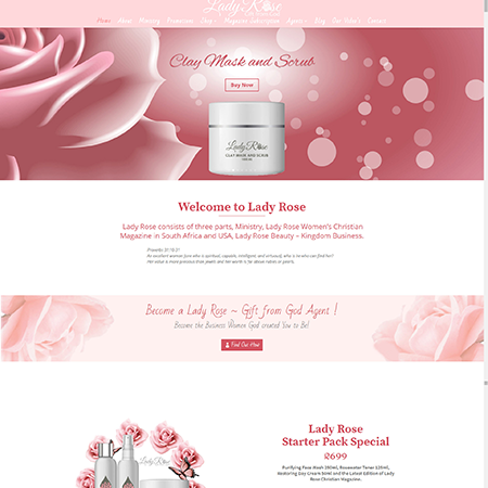 lady rose-home page